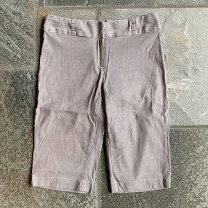 Tweeds striped Bermuda shorts.